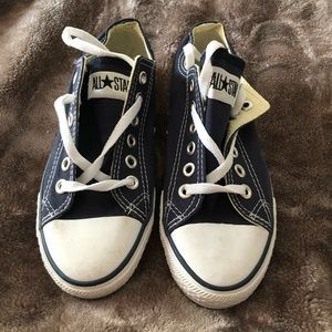 Shoes - Navy Converse All Stars Women's 7.5